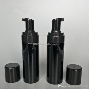 150g Plastic Refillable Travel Foamer Pump Bottle Body Wash black soap foaming pumps PET DIY Liquid Dish Soap 2019012207