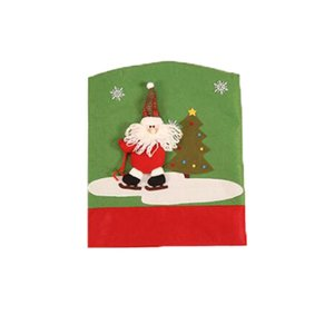Chair Covers Santa Claus Snowman Kitchen Table Cover Christmas Chair Cover Holiday Home Party Decoration