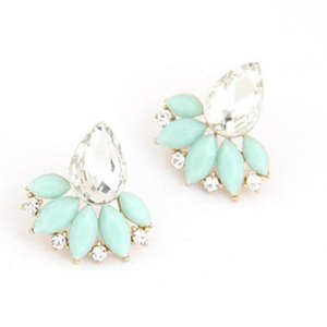 Acrylic Flower Stud Earrings Fashion Earrings for Women Brincos Statement Bijoux Boucle Wholesale Jewelry Accessories Christmas Gift