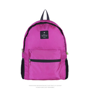 Viaggi Fashion Casual Zaino in nylon pieghevole esterno sacchetto solido sacchetto di scuola unisex Durable Waterproof Lady sacchetto di mano personalizzabile VT0498