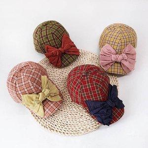 Ins Fashion large bows girls hats princess kids hats girls baseball cap girls baseball hats peaked cap cute Sun hat kids cap B189