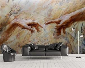 مخصص 3D صور خلفيات ديكور المنزل الفن 3D الإغاثة الرخام خلفية جدار اللوحة HD خلفيات