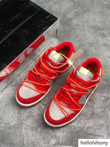With Box And Stock Futura X Sb Dunk Low OFF Casual Shoes Women Mens Green Orange Blue White Dunks des Chaussures Taquets
