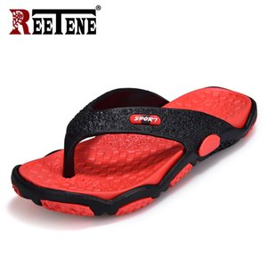 REETENE High Quality Men's Shoes For Male Slippers Plus Size 39-45 Fashion Summer Men Flip Flops Outdoor Soft Casual Shoes Men Y200706