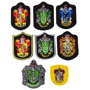 10 Projetos Harry Potter Patch Emblema Grifinória Sonserina Ravenclaw Hufflepuff Escola Distintivo Bordado Presentes de Natal AN2488