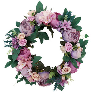 Artificial Flower Garland Silk Wreaths Door Party Hanging Wall Window Ornament Wedding Party Decoration DHB347