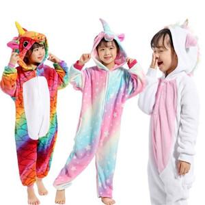 Pyjama Enfants Licorne D'hiver Pyjama De Bande Dessinée Animal De Nuit Vêtements Onesie Costume D'enfants Polaire Chaud Flanelle Enfants Couverture Vêtements De Nuit