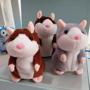 Nouveau design Parler Hamster en peluche 15cm Belle Mignon Speak Parler de son enregistrement Hamster jouets parlants souris en peluche Pet