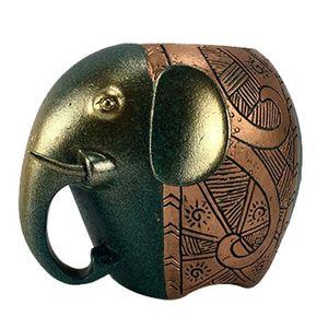 Klasik Fil Kalem Tutucu Reçine El Sanatları Şanslı Fil Figürinler Süsler Kalem Depolama Ev Dekorasyon Yaratıcı Öğrenci Hediyeler