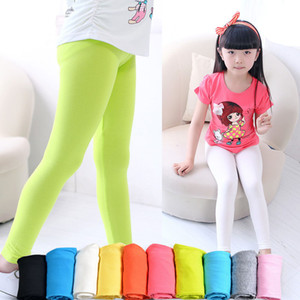 Girls leggings Girl pants new arrive Candy color Toddler classic Leggings big children trousers Baby kids leggings 15 colors available W9562