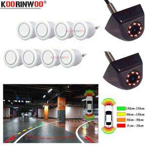Koorinwoo CCD AHD OPS Car Video Parking Sensors 8 Alert 4 Передняя камера заднего вида динамическая траектория система направляющих для парковки