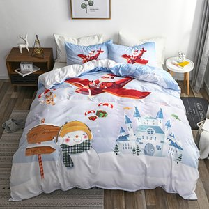 Couette Queen Size Sets enfants couette Père Noël Impression Literie