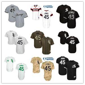freies Schiff benutzerdefinierte Chicago ChicagoWhite Sox 45 Bobby Jenks T-Shirt, White Sox Baseball Wear Männer Frauen Jugend Trikots