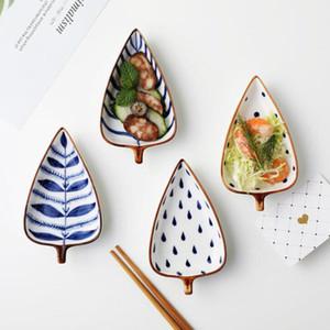 Creative retro hand-painted sauce dish Japanese underglaze color ceramic sauce dipping sauce dish snack dish