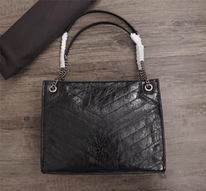 2019 Neue hochwertige NIKI Medium Einkaufstaschen Luxus Designer Damen Handtaschen Original Leder Tragetaschen Modedesigner Umhängetaschen