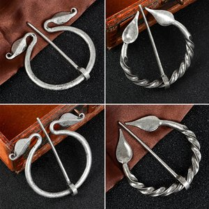 Viking Brosche Kollektion Vintage-Penannular Schulter-Schal-Schal-Haken-Mantel-Pin Medieval Schmuck Viking Metal Pin-Pack Denim-Abzeichen