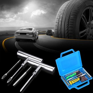 LEEPEE 12Pcs Set Tire Rubber Strip Patch Fix Tools Car Tire Repair Tools Repair Kit Vacuum Tyre Puncture Tool