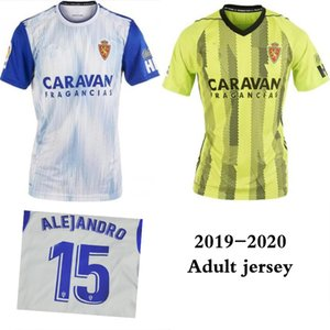 2019 ريال سرقسطة # 23 SHINJI KAGAWA Soccer Jersey 19/20 Home أبيض ZAPATER Soccer Shirt VAZQUEZ POMBO سرقسطة بورخا يونيفورم لكرة القدم