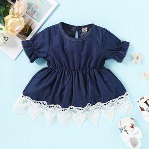 Baby Dress Cute Toddler Kids Baby Girl Summer Clothes Set Denim Cotton Mini Dress Outfits Sister Denim Suit Sling Blue