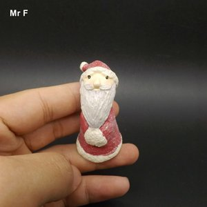 Exquisite Diy Accessory Creative Santa Claus Diy Accessories Synthetic Resin Handicraft Model Christmas Gift Toy