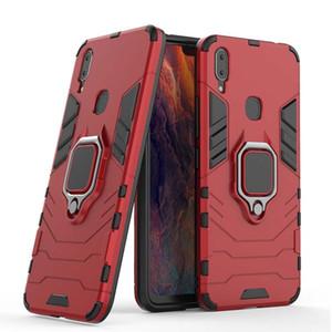 Vivo X20 X9 X9S Artı Vaka Araç Montaj Manyetik Gözde mekan Metal parmak yüzük tutucu TPU pc cep telefonu kapağı durumda İçin