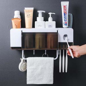Caso Storage Box Holder Spazzolino da denti Squeezer Dispenser accessori bagno set da bagno con gli articoli per la casa Coppe
