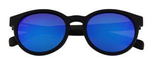 Adulti adumbral Óculos De Sol Em Quadro Redondo De Plastica Dita Com Branco De Madeira occhiali da sole di Mens occhiali da sole Occhiali