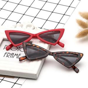 6 Farben Cat Eye Sonnenbrillen Dreieck Rahmen Frauen Sun Brillen UV400 Kunststoff Dreieck Gläser Großhandel Brillen Bowknot Sonnenbrillen