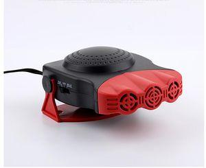 araba defrost ve buğu çözücü araç ısıtıcı için doğrudan satış araba 12V çift kullanımlı üç delikli ısıtıcı
