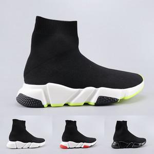 Mens Womens Speed Run nuovo stile Scarpe Nero Verde Velocità Stretch Grigio Knit media Scarpe casual calzino rosso di velocità tennis casuali