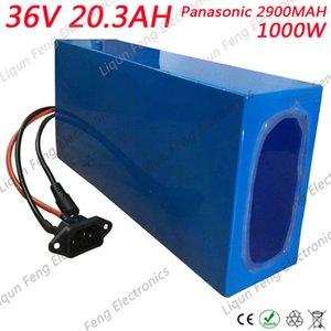 Spedizione gratuita 36V 20AH Batteria EBike 36V 20AH 1000W uso per Panasonic 2900MAh Cell con 2A Caricabatterie 30A BMS Batteria al litio 36V