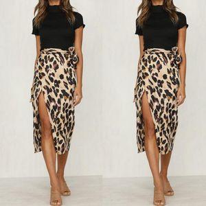 New Fashionable Women Summer Leopard Print Skirt Ladies Sexy And Charming High Waist Polyester Skirt Women Dress