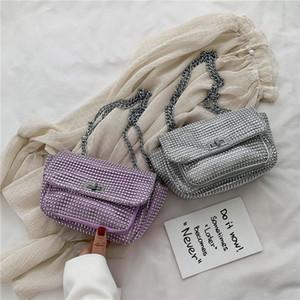 Original Design Texture Bag 2020 New Fashion Diamond Shoulder Messenger Bag Simple Joker Square
