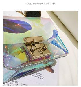Lady Transparent Bandoulier Fema Bags Jelly Small Altl Messenger Bags Laser Designer-Women Shoulder Pvc Holographic Tote Clear Bag Femm Auev
