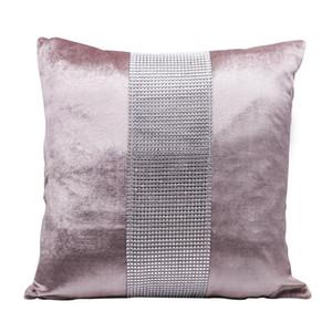 45 centímetros almofadas decorativas Caso flanela Rhinestone Patckwork simples moderno Lance partido fronha Hotel Home Textile * 45 centímetros