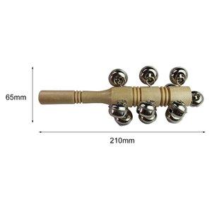 Wood Baby Rattle Kids Toy Musical Instrument Handle Wooden Activity Bell Stick Shaker For Children Gift Inspiring Music Sense