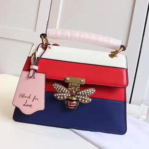 Kraliçe Margaret çanta kadınlar crossbody çanta kadın tasarımcı deri çanta marka çanta tokası aşk omuz çantaları arı kör