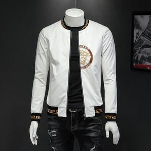 Perfekte Qualität Männer Jacke 2019 Herbst Mann Jacken-Stickerei und vorzüglicher Mantel modern und bequem