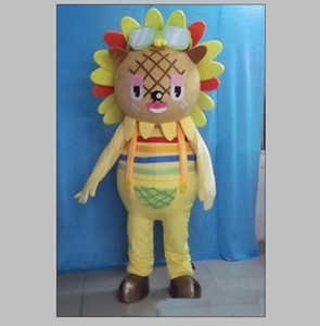 2020 Discount factory sale EVA Material Helmet sunflower Mascot Costumes Crayon Cartoon Apparel Birthday party Masquerade