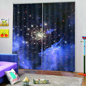 3d curtain personality stars starry curtains Bedroom living room windproof thickening blackout fabric 3d curtains