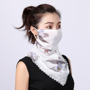 In stock! Free Shipping Fashion print design female neck protector sunscreen scarf mask dustproof sunshade mask