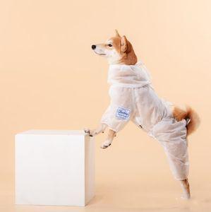Tierschutzkleidung Hund Schutzkleidung für Outdoor-gehender Hund Kleidung Staubdichtes Kostüm Haustier Schutzausrüstung YP373