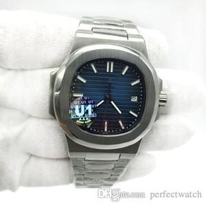 2019 Nuovo Mens Watch Quadrante orologio posteriore trasparente U1 fabbrica Movimento inciso Nautilus meccanico automatico del polso dell'acciaio inossidabile