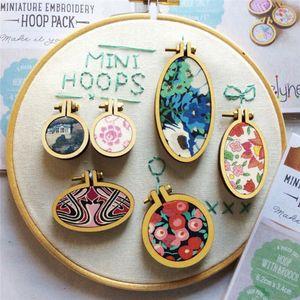 Struttura in legno Mini Punto Croce Con Piccolo ricamo del cerchio della collana dell'orecchino DIY dei pendenti regali gioielli accessori decorativi