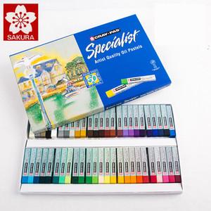 Sakura Öl-Pastell ESP 12/25/36/50 Farben Pastell-Stock-weiches Öl Crayons Pastell Blue Box Verpackung Zu