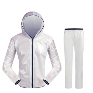 high quality Wheel Up Bicycle Raincoat Rain JacketPants Set Waterproof Coat Trousers Polyester TPU Cycling Protective Gear Cycling Fabric