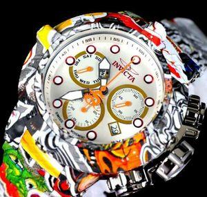 Invicta des Subaqua Graffiti hydroplated Stahlband Uhren Swiss MVT neue 50mm