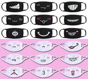 Designer Luxus-Maske Anti-Staub-Baumwolle Mund Gesicht schwarz Cartoon Expressionsmuster Maske Boutique Maske Unisex Gesundheit Radfahren Respirator