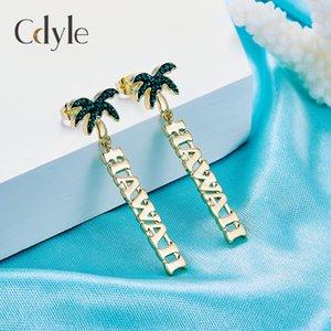 Новые европейские и американские креативные серьги из кокосовой пальмы Hawaiian I Fashion Earrings