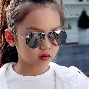 2020 Classic Fashion Sunglasses Girls Boys Colorful Mirror Children Glasses Metal Frame Kids Outdoor Travel Eyeglasses